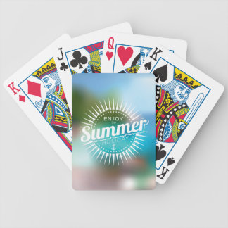 enjoy the summer holiday bicycle playing cards