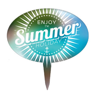enjoy the summer holiday cake topper