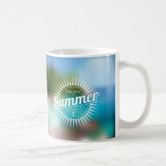 enjoy the summer holiday classic white coffee mug