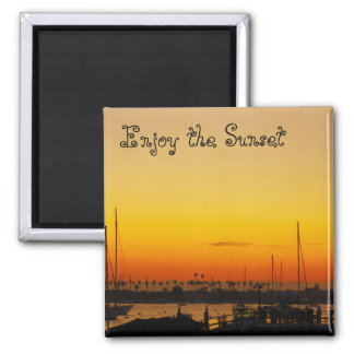 Enjoy the Sunset 2 Inch Square Magnet