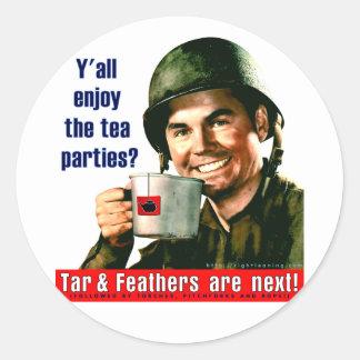 Enjoy the Tea Party? Classic Round Sticker