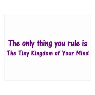 Enjoy the Tiny Kingdom of Your Mind Postcard