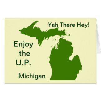 Enjoy the U P Michigan with Da Yoopers Greeting Cards