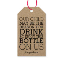 Enjoy This Bottle on Us | Funny Teacher Wine Gift Tags