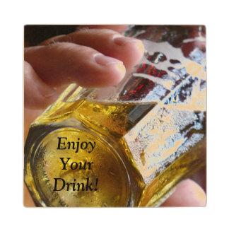"""Enjoy Your Drink"" wooden coaster. Wooden Coaster"
