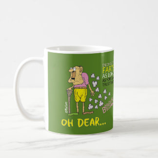 Enjoy your farts - old man birthday green cartoon coffee mug