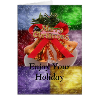 Enjoy Your Holiday in Stained Glass Card