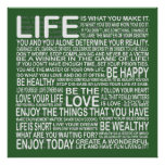 Enjoy your life poster in green