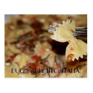 Enjoy your meal in Italian Postcard