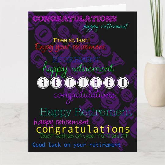 enjoy your retirement repeating wishes xl card  zazzle