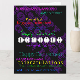 Retirement wishes gifts on zazzle enjoy your retirement repeating wishes xl card m4hsunfo
