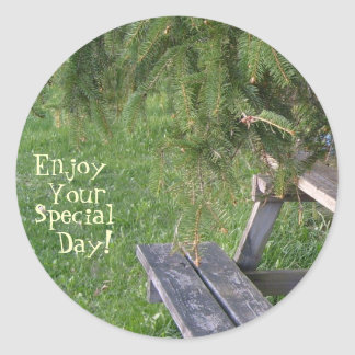Enjoy, Your, Special, Day! Classic Round Sticker