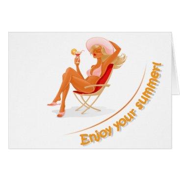 Beach Themed Enjoy your summer card