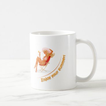 Beach Themed Enjoy your summer coffee mug