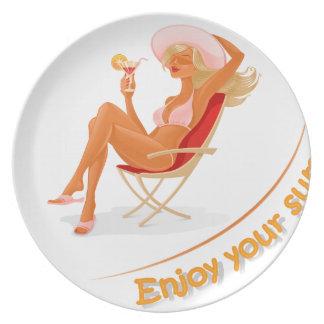 Enjoy your summer dinner plate
