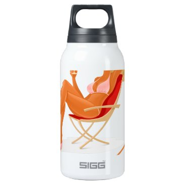 Beach Themed Enjoy your summer insulated water bottle