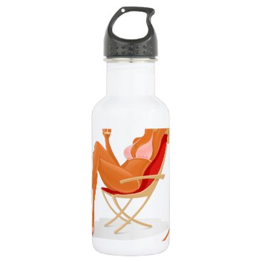 Beach Themed Enjoy your summer stainless steel water bottle