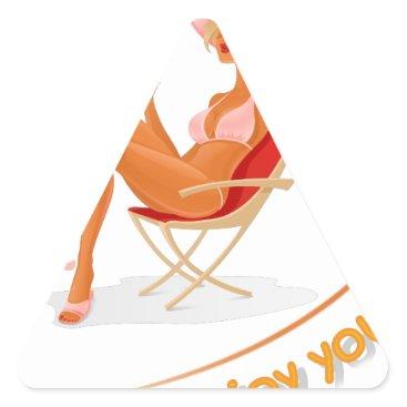 Beach Themed Enjoy your summer triangle sticker