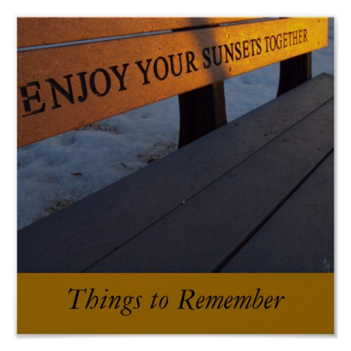 Enjoy Your Sunsets Together Poster