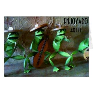 """ENJOYADO (GOCE) SU """"40.o """" Tarjeta De Felicitación"""