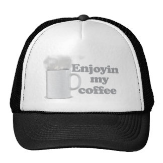 Enjoyin mi café gorros bordados