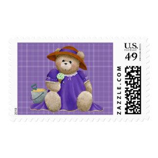 Enjoying A Cone Postage Stamp