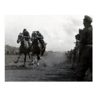 Enjoying a horse race in Soputa, New Guinea Postcard