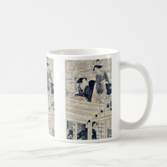 Enjoying a river cruise by Kitagawa,Hidemaro Coffee Mug
