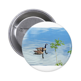 Enjoying a Swim Pinback Button
