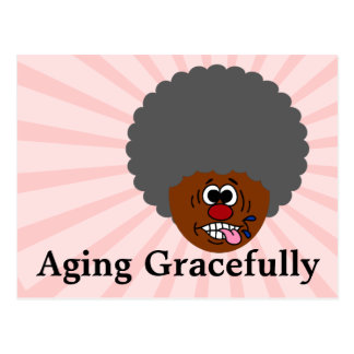 Enjoying aging gracefully into second childhood postcard