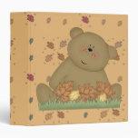 enjoying autumn teddy bear vinyl binders