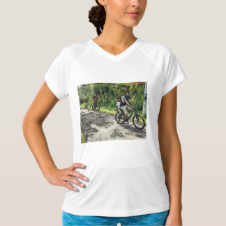 Enjoying cycling on a rough track T-Shirt