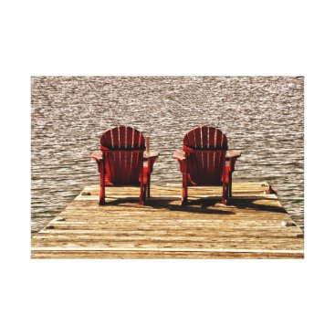 Beach Themed Enjoying Life At The Cottage Canvas Print