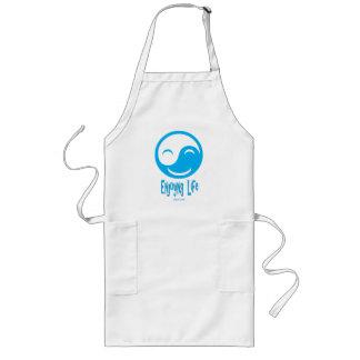enjoying life button, gemini65 bk logo long apron