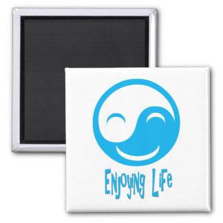 Enjoying Life button Magnet