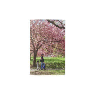 Enjoying the Cherry Trees Pocket Moleskine Notebook