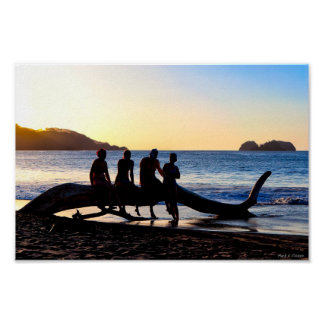 Enjoying The Costa Rican Sunset - 12x8 Archival Poster