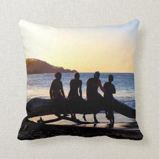 Enjoying The Costa Rican Sunset Together Throw Pillow