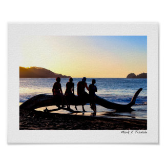Enjoying The Costa Rican Sunset Together - Small Poster