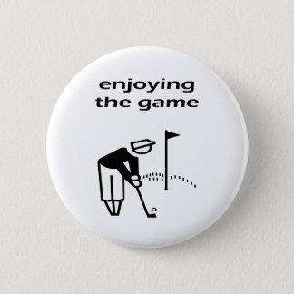 Enjoying The Game Golf Design Pinback Button