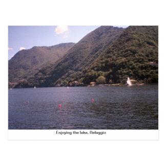 Enjoying  the lake, Belaggio Postcard
