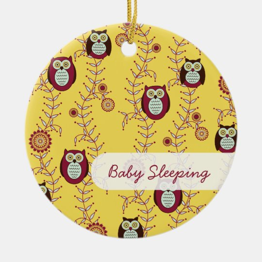 "Enjoying the Sunshine ""Baby Sleeping"" Door Hanger Ceramic Ornament"