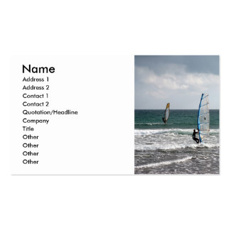 Enjoying the wind business card
