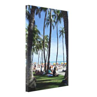 Enjoying Waikiki Beach Canvas Print
