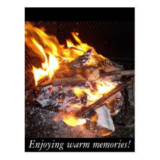 Enjoying Warm Memories Postcard