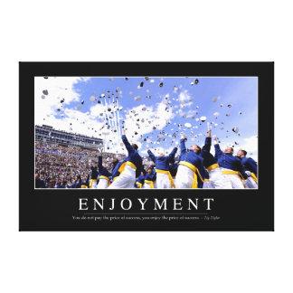 Enjoyment: Inspirational Quote Canvas Print