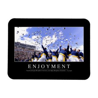 Enjoyment: Inspirational Quote Rectangular Photo Magnet