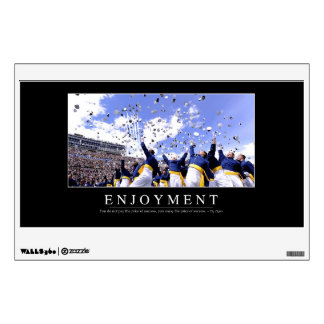 Enjoyment: Inspirational Quote Wall Sticker