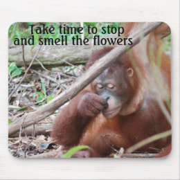 Enjoyment: Take time to stop and smell flowers Mouse Pad