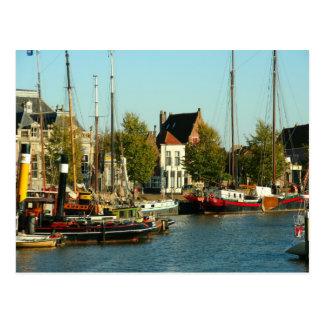 Enkhuizen harbour, Ijselmeer, Durch sailing boats Postcard